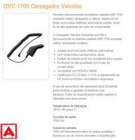Carregador Veicular GVC-1700 para GSP-1700